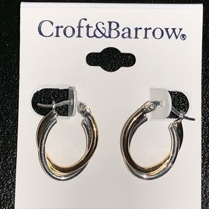 Croft & Barrow Gold Silver tone hoops